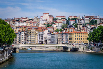 View  of Lyon overlooking the Saone river
