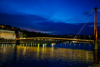 Views of Lyon from the Saone river