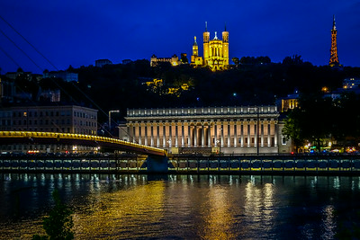 Views of Lyon from the Rhone River