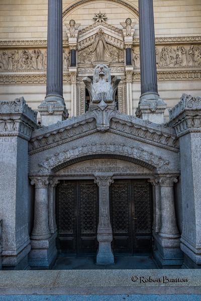 Entrance to Notre Dame Basilica