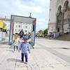 Exploring the grounds of  Notre-Dame de Fourvière