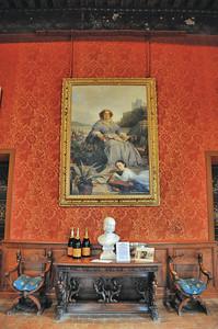 Château de Brissac - Galerie de peinture - Portrait de la Veuve Clicquot et de son arrière-petite-fille