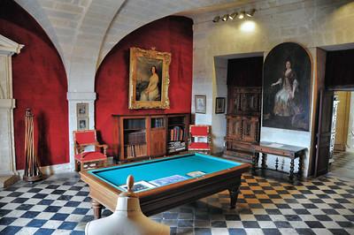 Château de Brissac - Salle de billard