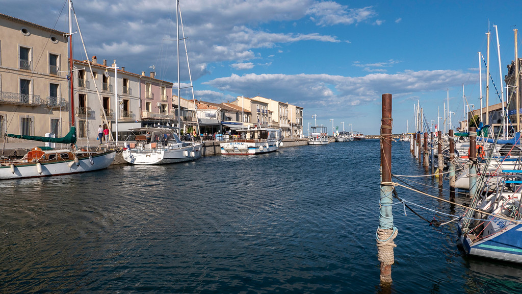 Port town of Marseillan, France