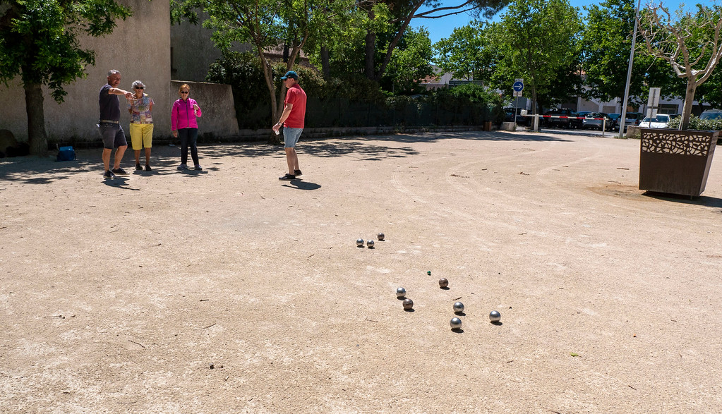 Petanque game in South of France