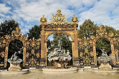 Nancy - Grilles de la place Stanislas - Fontaine de Neptune