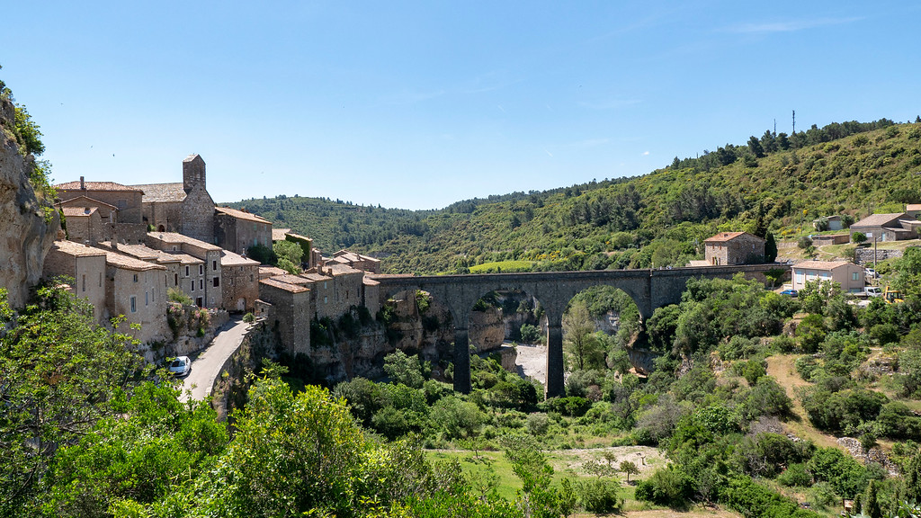 Medieval village of Minerve, France