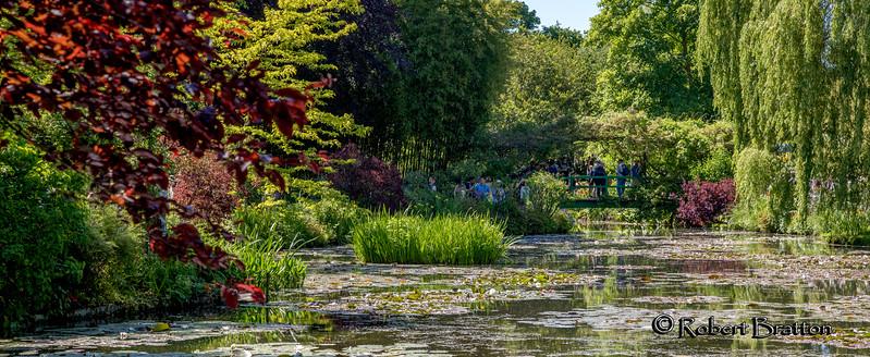 Famous Green Bridge at Monet's garden