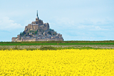 Mont Saint Michel ..... from a bus window