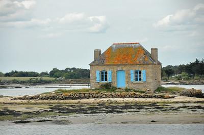 Maison célèbre sur l'îlot de Nichtarguér, sur la ria d'Etel