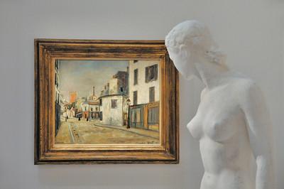 La rue du Mont Cenis (Maurice Utrillo - vers 1916) et Assia (Charles Despiau - 1936)