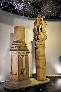 Metz - Musée de la Cour d'Or - Colonne du cavalier à l'anguipède