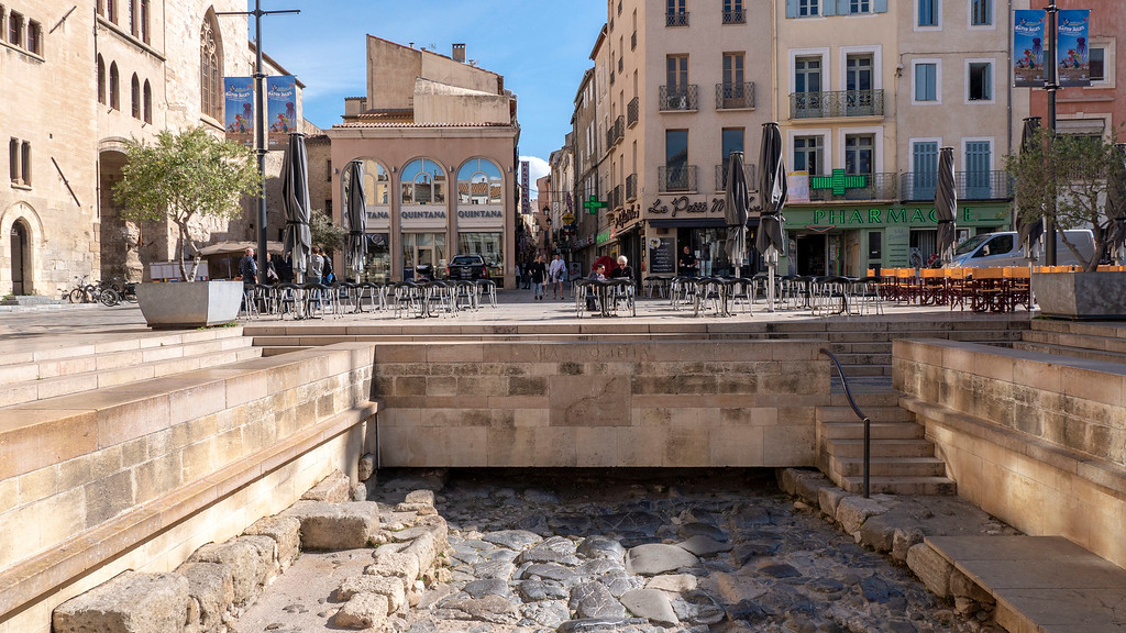 Narbonne France: The Via Domitia (Roman Road)
