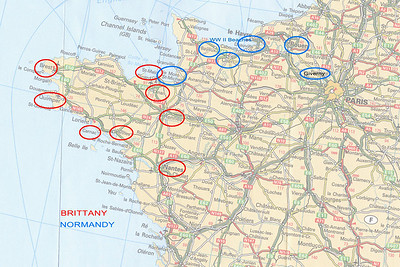 Brittany  & Normandy Map