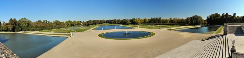 Château de Chantilly - Jardins de Le Nôtre - Douves, Miroirs, Manche, Gerbe, bassin des Serruriers
