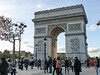 Arc de Triomphe on Champs Elysees - home to the Tomb of the Unknown Soldier