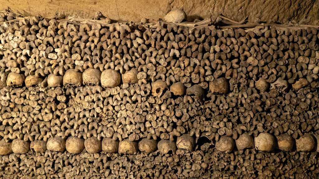 Paris Catacombs Tour - Visit the Catacombs of Paris, France - Bones and Skulls