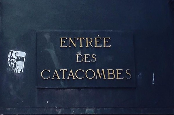 Entrance Sign to the Paris Catacombs