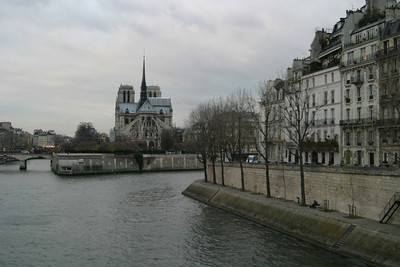 Notre Dame and the Quai d'Orléans of Île Saint-Louis, from the Pont de la Tournelle