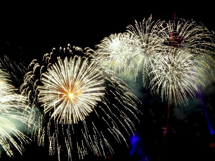 Fireworks on Bastille Day