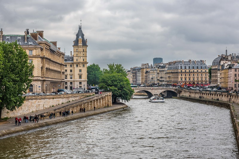 The River Seine in Rainy Day