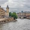 The River Seine in Rainy Day