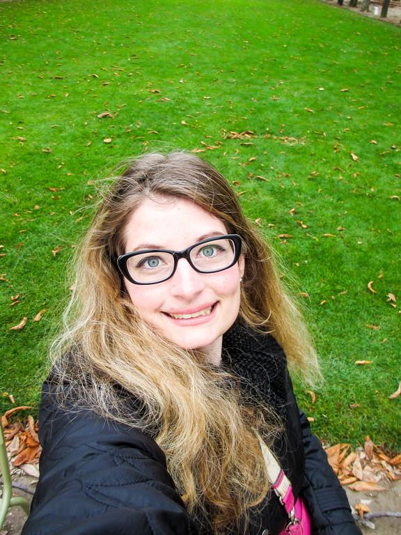 big smile in Paris in November