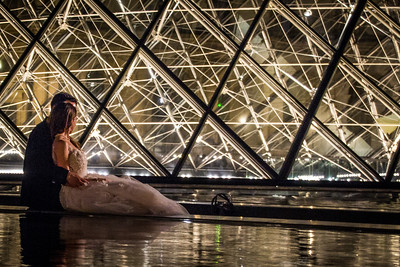Bride and Groom at the Louvre