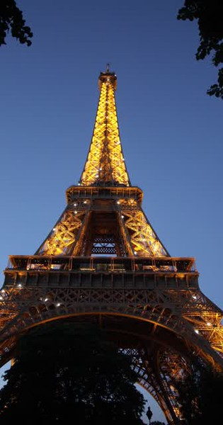 Eiffel Tower at Night Video