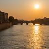 Sunset on the Seine, Paris