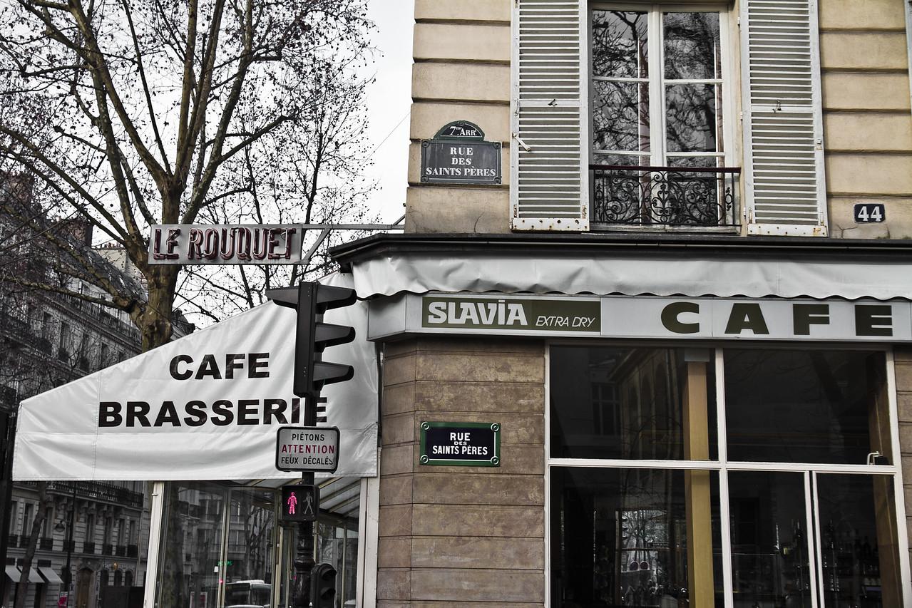 Corner of Boulevard St Germain and Rue des Saints Peres, Paris