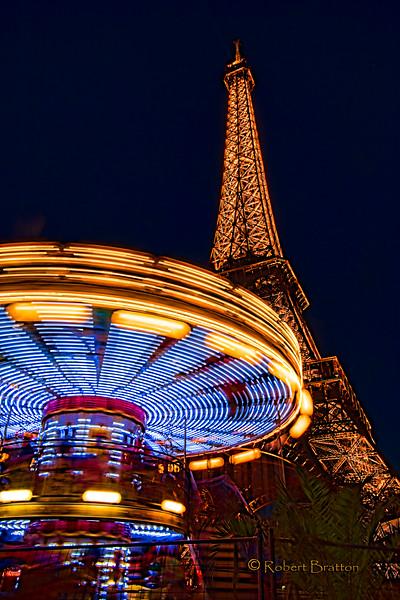 Vivid Eiffel Tower and Carousel