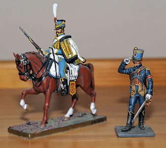 Hussar et officier