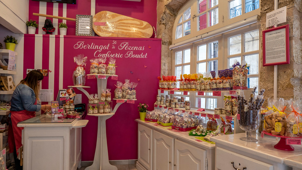 Pezenas in the South of France: Old Town Candy Shop