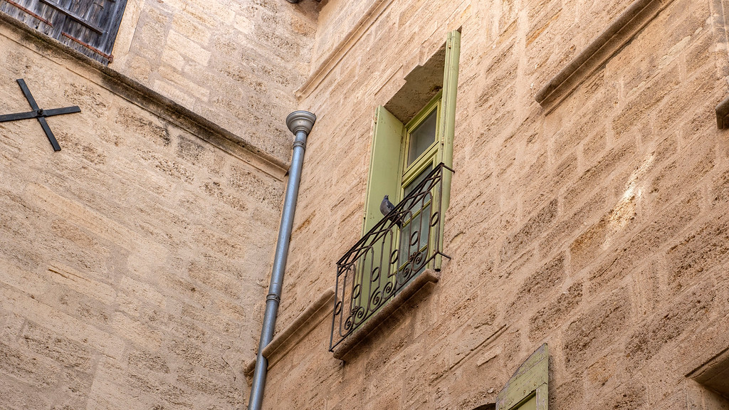 Pezenas in the South of France: Old Town Railing of a Brothel