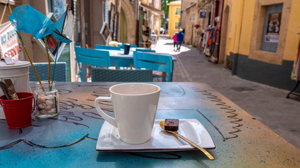 Pezenas in the South of France: Old Town Coffee on the Patio