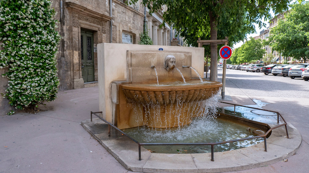 Pezenas in the South of France: Old Town Fountain