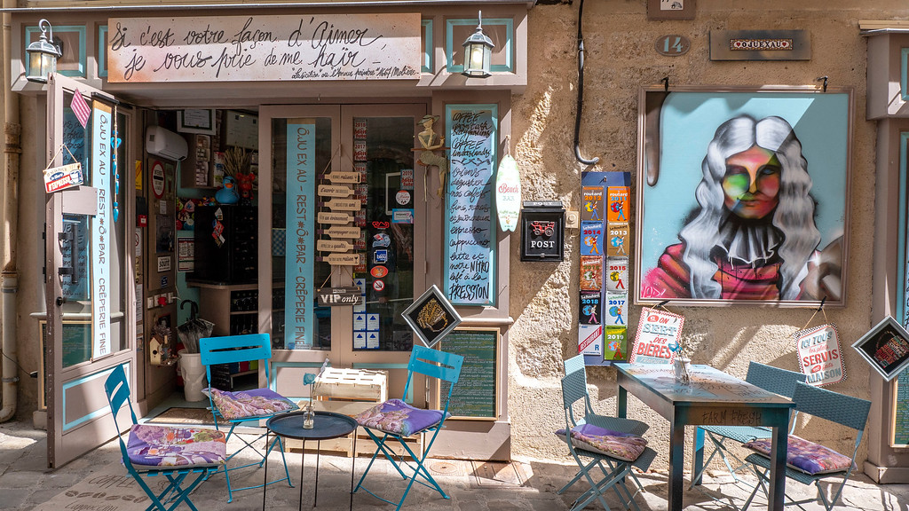 Pezenas in the South of France: Old Town Cafe