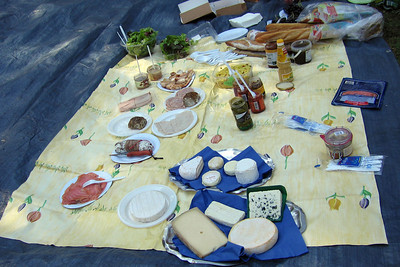 Picnic of delacacies from local market