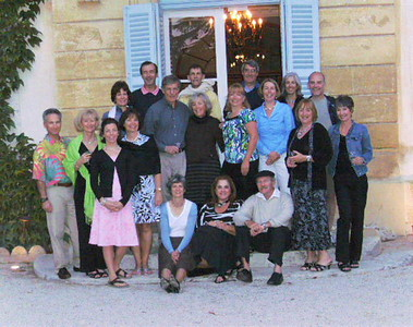 Group photo, last night at Chateau de Varenne