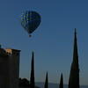 hot air ballon in  hotel la coquillade , morning of day 4