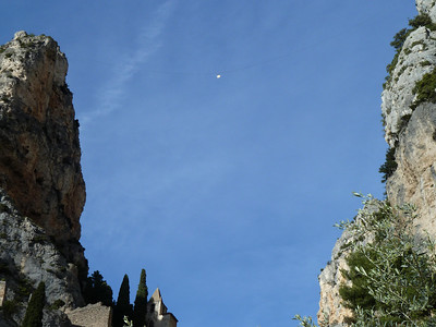 Star hanging over Moustiers Saint Marie