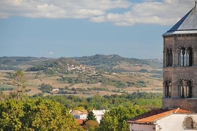Issoire - Vue sur Usson depuis la tour de l'Horloge