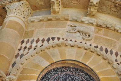 Issoire - Abbatiale Saint-Austremoine - Signe zodiacal du scorpion