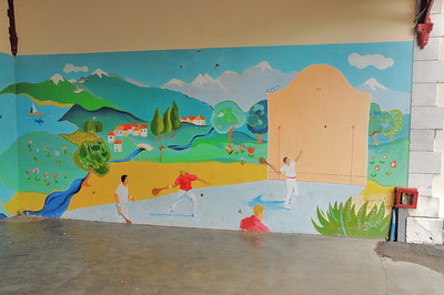 Fresque à l'école de Navarrenx