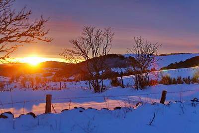 aubrac, lever de soleil