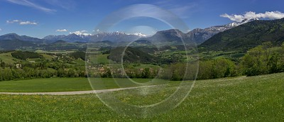 Lalley Rhone Alpes France Mountain View Landscape Viewpoint Panoramic Fine Art Landscapes Forest - 016596 - 24-05-2014 - 16185x6951 Pixel