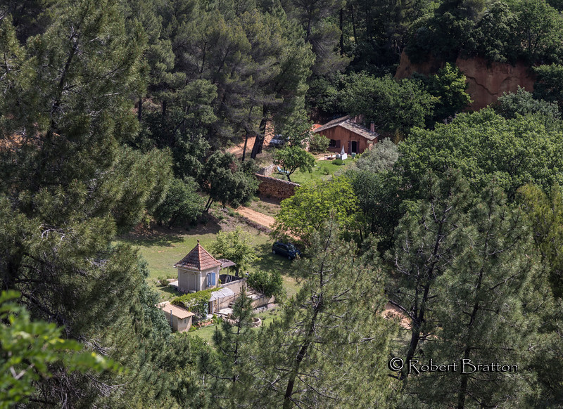 View of House below Roussillon