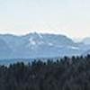 Panorama du Revard avec les massifs du Mont Blanc et des Bauges