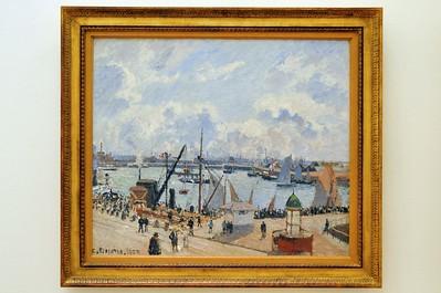 Le Havre - Musée Malraux - L'anse des pilotes et le brise-lames est, Le Havre, après-midi, temps ensoleillé (Camille Pissaro - 1903)